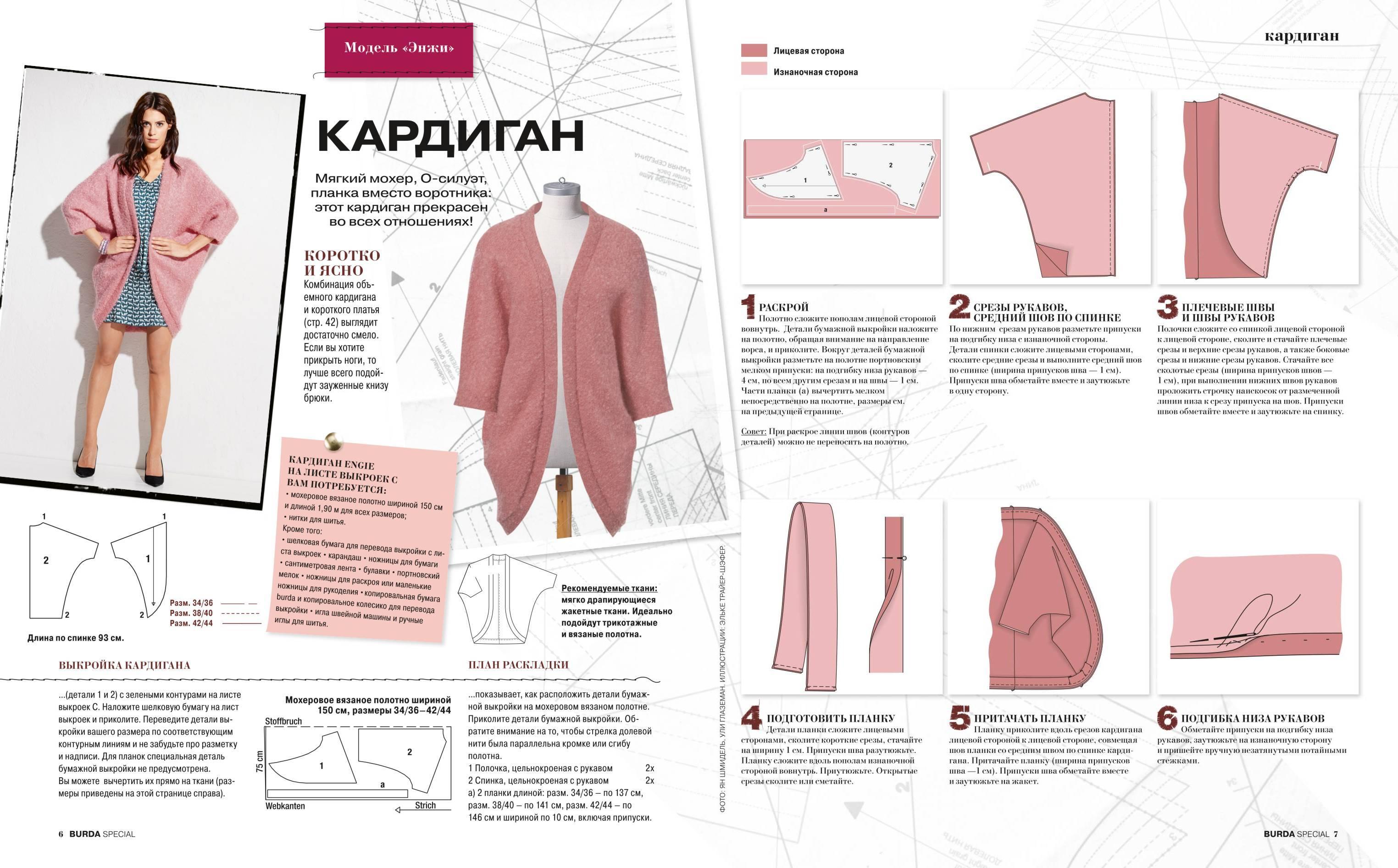 Швейная выкройка для вязания